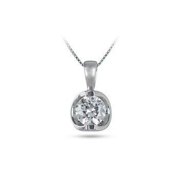 14K WG Diamond 'Moon Shine' Pendant TDW 0.75 Cts
