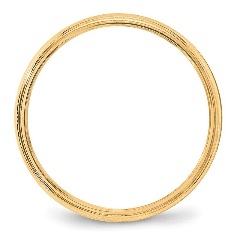 Quality Gold 14KY 4mm LTW Milgrain Half Round Band Size 10