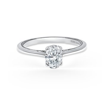 Classic Filigree Diamond Engagement Ring