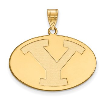 Gold Brigham Young University NCAA Pendant