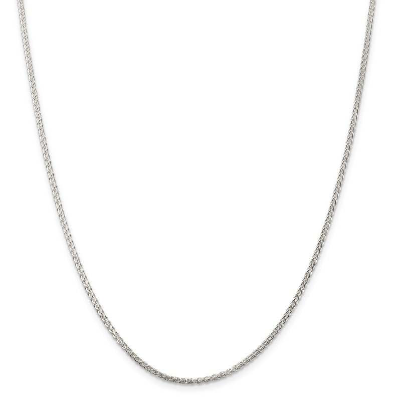 Quality Gold Sterling Silver Rhodium-plated 1.75mm Round Spiga Chain