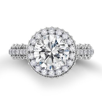 Petalo Single Shank Engagement Ring