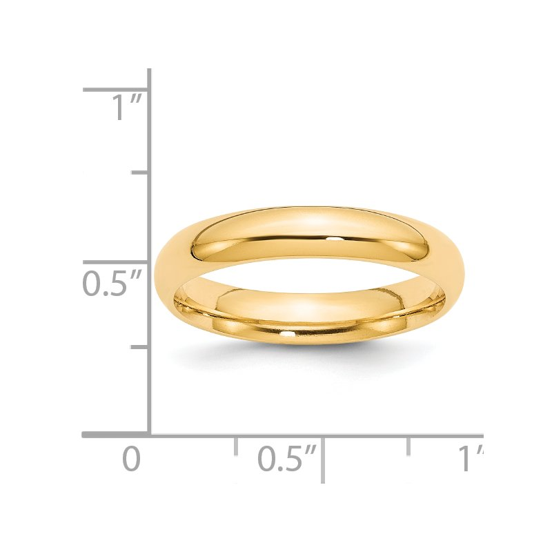 Quality Gold 14k 4mm Comfort-Fit Band