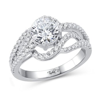 14K 0.50Ct Diam Semi Mount Ring