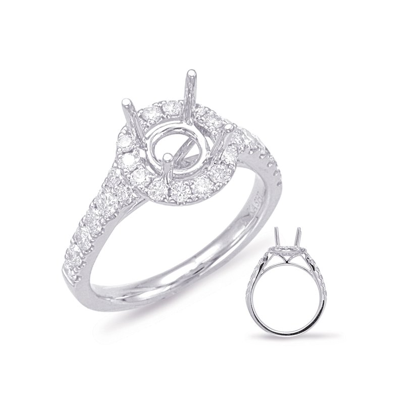 S. Kashi & Sons Bridal White Gold Halo Engagement Ring