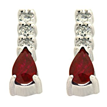 Ruby. & Diamond Earring