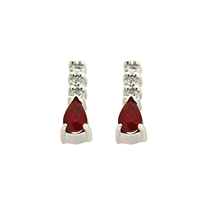 Briana Ruby. & Diamond Earring