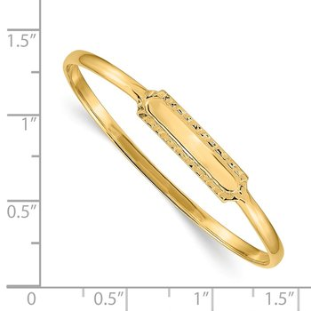 14k Slip-on ID Baby Bangle Bracelet