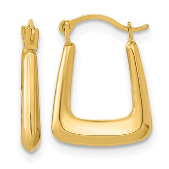 14k Polished Hollow Fancy Hoops