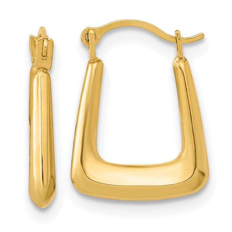 Quality Gold 14k Polished Hollow Fancy Hoops