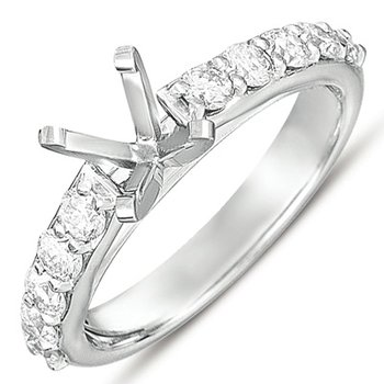 Platinum Gold Engagement Ring