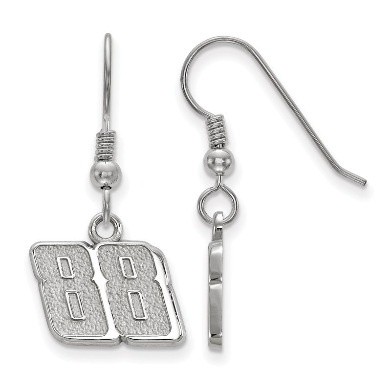 Nascar Sterling Silver 88 Dale Earnhardt Jr Earrings