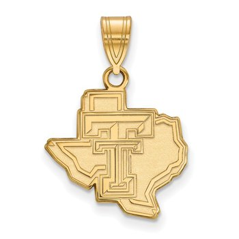Gold-Plated Sterling Silver Texas Tech University NCAA Pendant