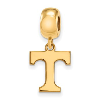 Gold-Plated Sterling Silver University of Tennessee NCAA Bead