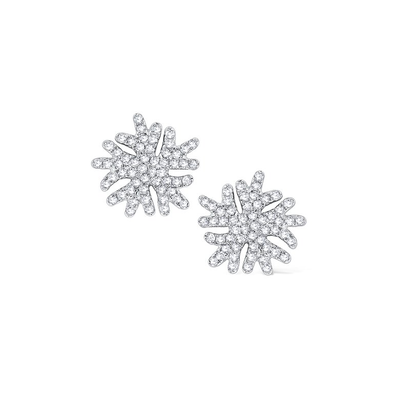 KC Designs Diamond Snowflake Stud Earrings Set in 14 Kt. Gold