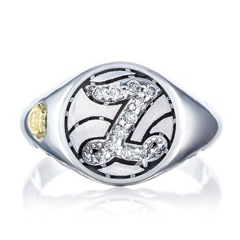 Pavé Monogram Ring