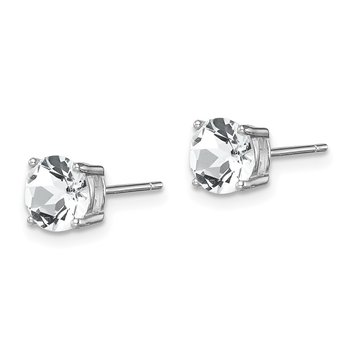 Sterling Silver Rhod-pltd Clear Swar Crystl Birthstone Earrings