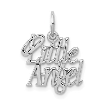 14k White Gold Little Angel Charm
