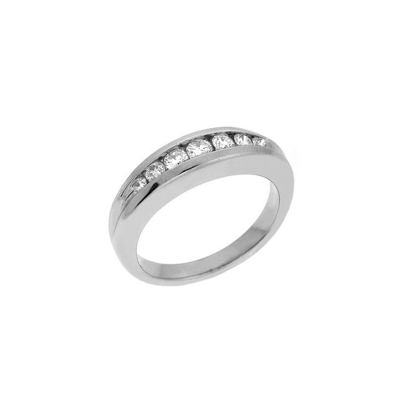 S. Kashi & Sons Bridal Platinum Diamond Ring