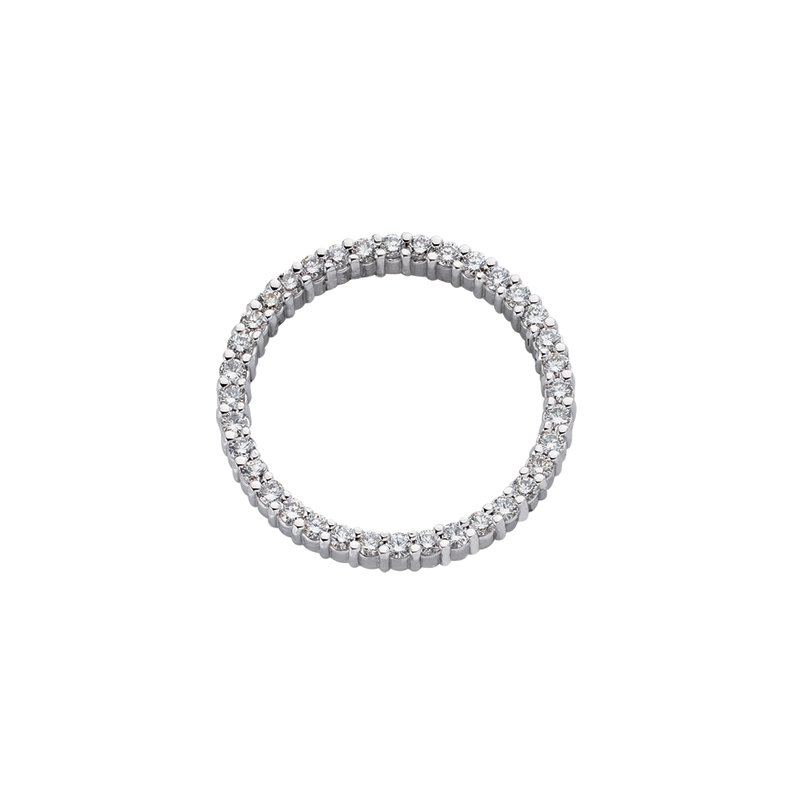 Briana White Gold Circle Diamond Pendant  26mm