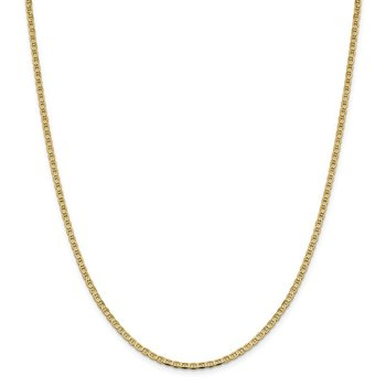 14k 2.4mm Concave Anchor Chain