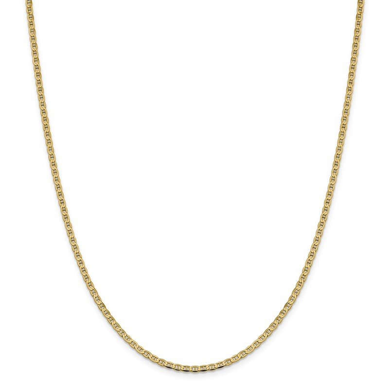 Quality Gold 14k 2.4mm Concave Anchor Chain