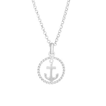 Silver Anchor and Rope Detail Chain