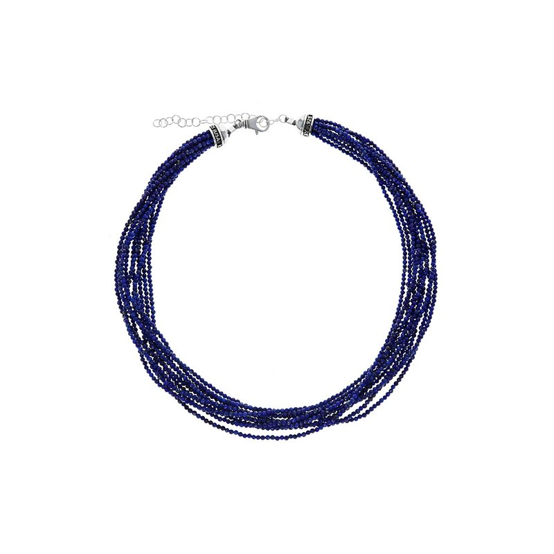 King Baby Ten Strand 2.5Mm Lapis Lazuli Beaded Necklace