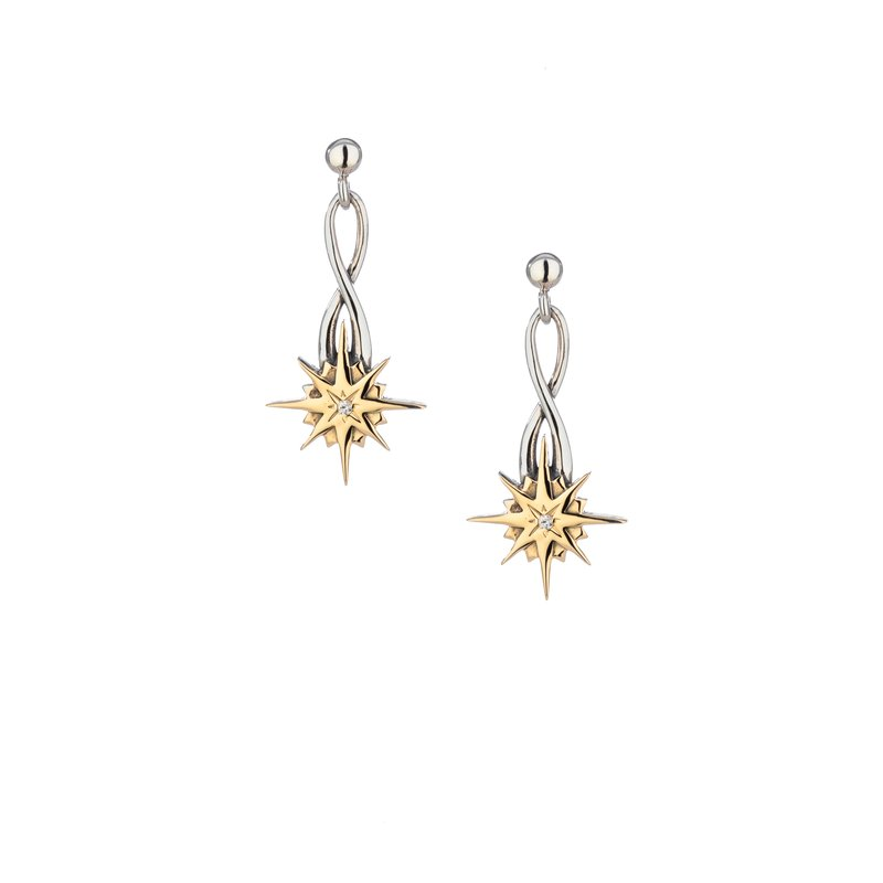 Keith Jack Compass Star Post Earrings