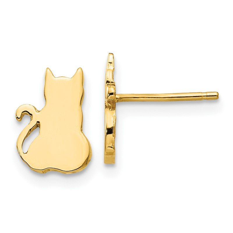 Quality Gold 14K Cat Earrings