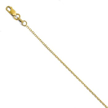 Leslie 14K 1.25 mm D/C Rolo Chain