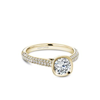 Bezel Set Side-Stone Solitaire Engagement Ring