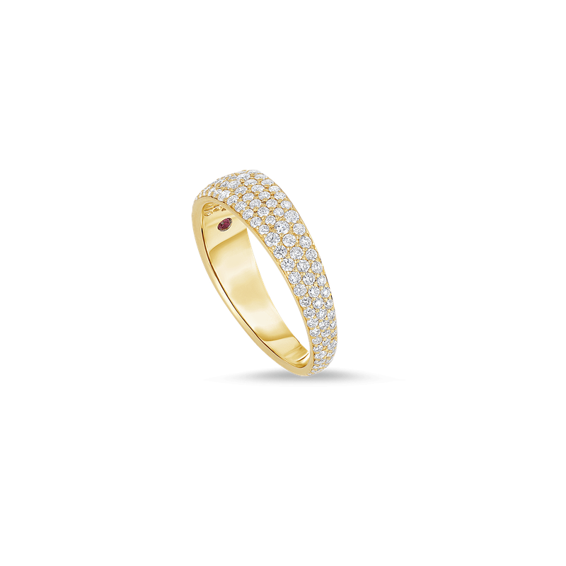 Roberto Coin Ring With Diamonds &Ndash; 18K Yellow Gold, 7