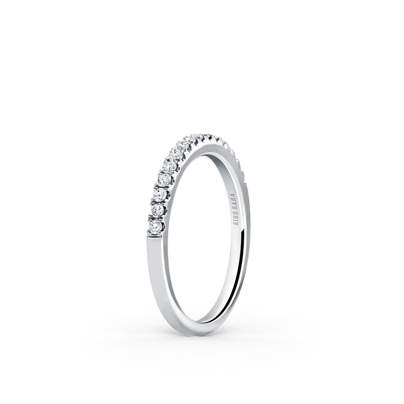 Classic Stackable Straight Diamond Wedding Band