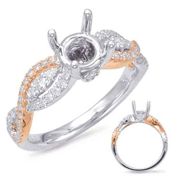 Rose & White Gold Engagement Ring