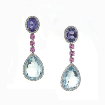 GEMSTONE AND DIAMOND DANGLES