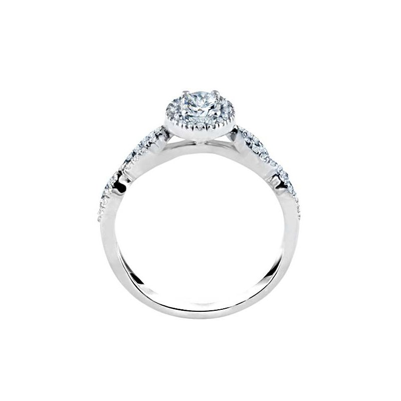 Oval Cut Halo Diamond Infinity Engagement Ring
