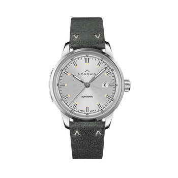 Freedom 60 - Silver Dial Leather Strap Watch