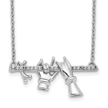 14k White Gold Diamond Necklace