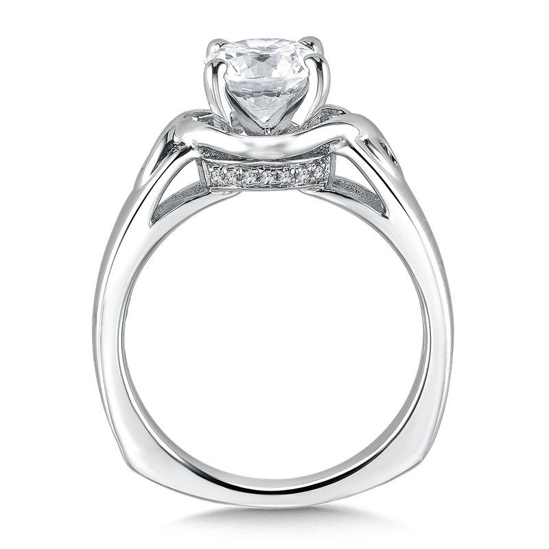 Valina Solitaire mounting .06 ct. tw., 1 1/4 ct. round center.
