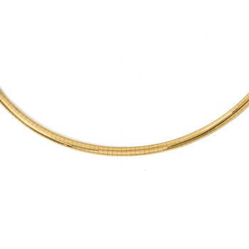 Leslie's 14k 4mm Lightweight Omega Necklace