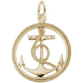 Ships Anchor in Rope Circle