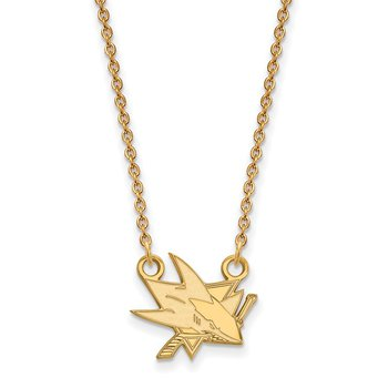 Gold-Plated Sterling Silver San Jose Sharks NHL Necklace