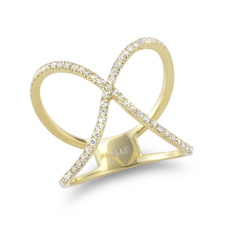 Shula NY 14K Yellow Gold and Diamonds bow Ring