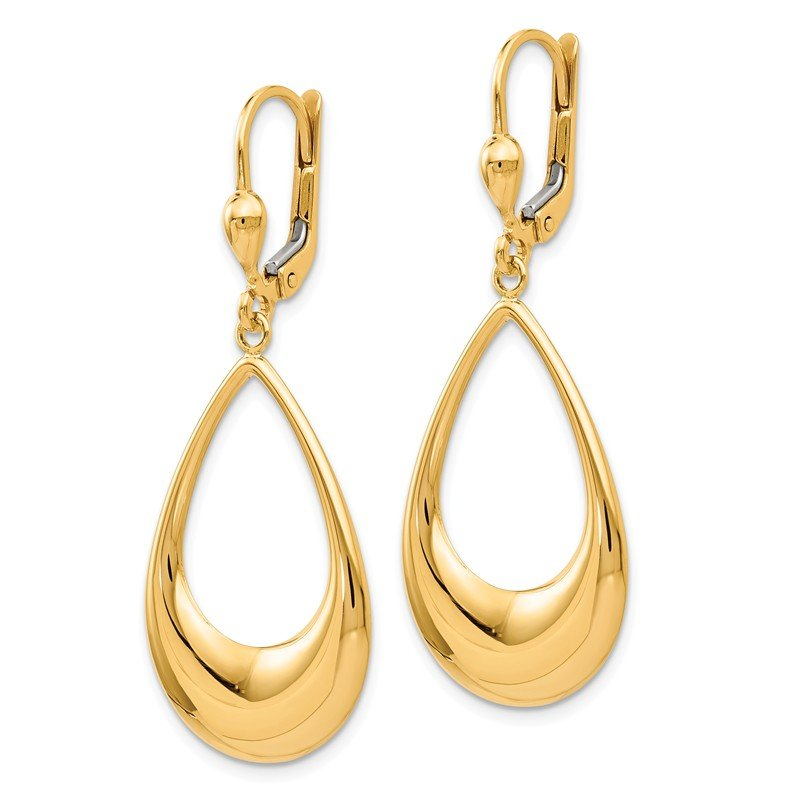 Leslie's Leslie's 14K Polished Teardrop Leverback Earrings