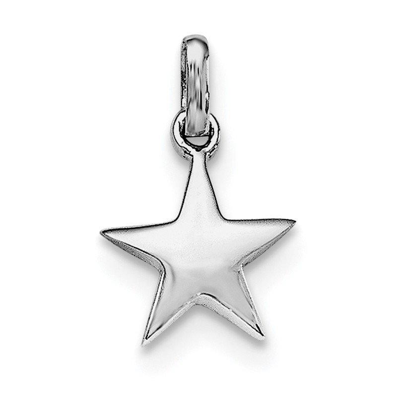 Quality Gold Sterling Silver RH Plated Child's Polished Star Pendant