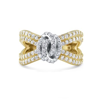 14K Diamond Knot Ring