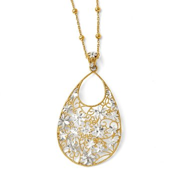 Leslie's Sterling Silver Gold-tone 18k Flash Plated Necklace