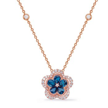Rose Gold Diamond & Sapphire Necklace