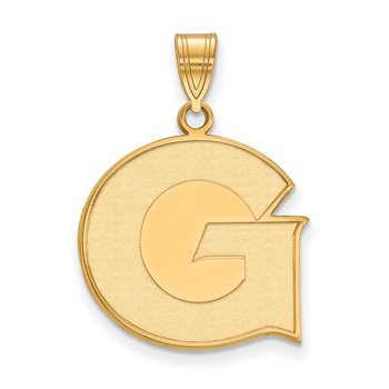 Gold Georgetown University NCAA Pendant